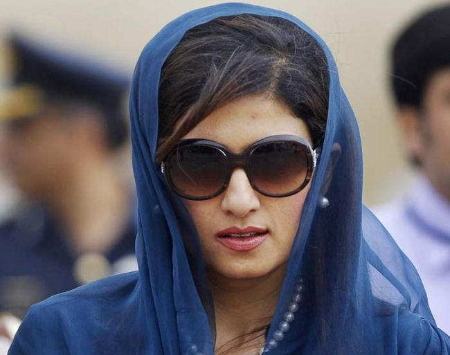 Hina Rabbani Khar In Black Shades. Face Close Up